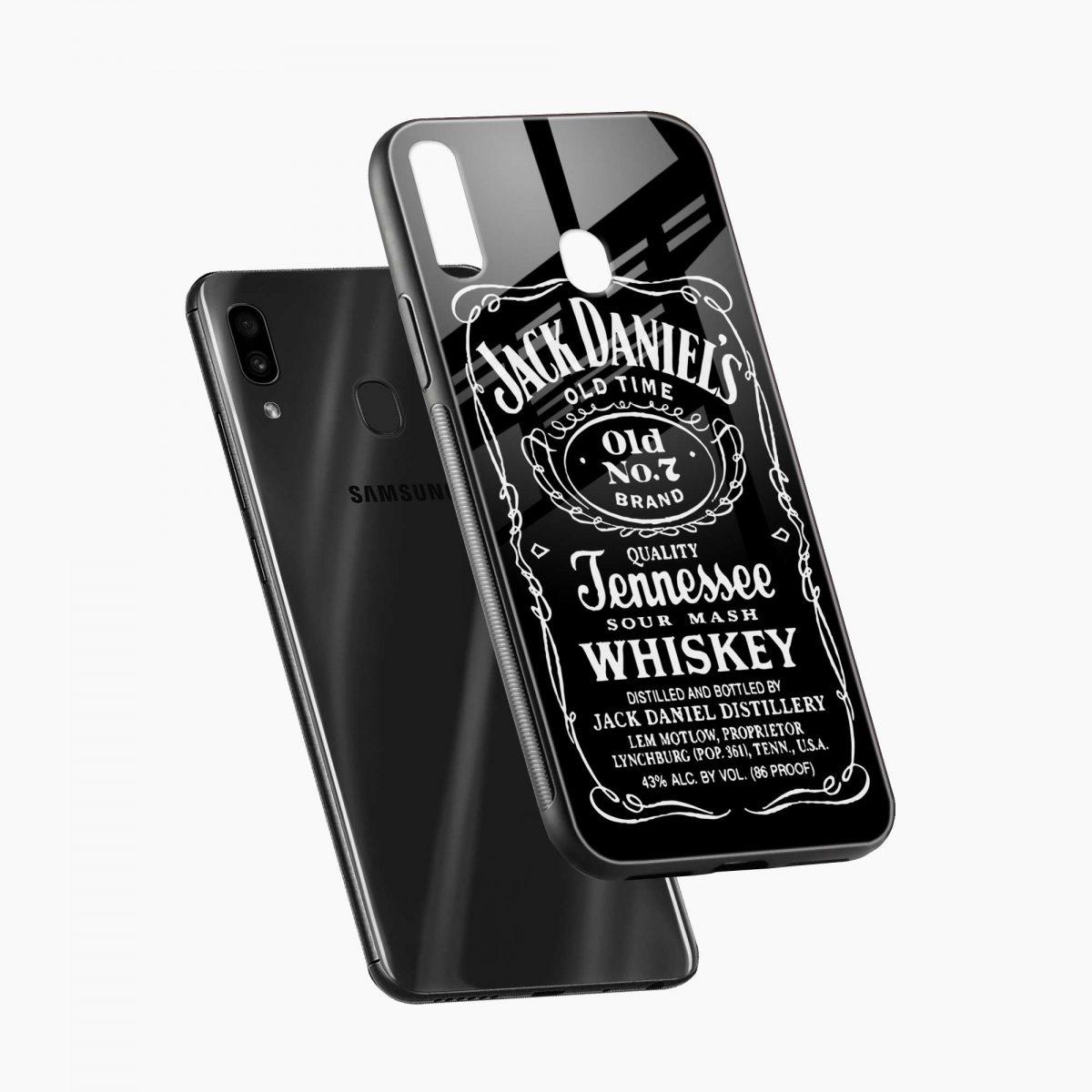jack daniels whiskey diagonal view samsung galaxy a30 back cover