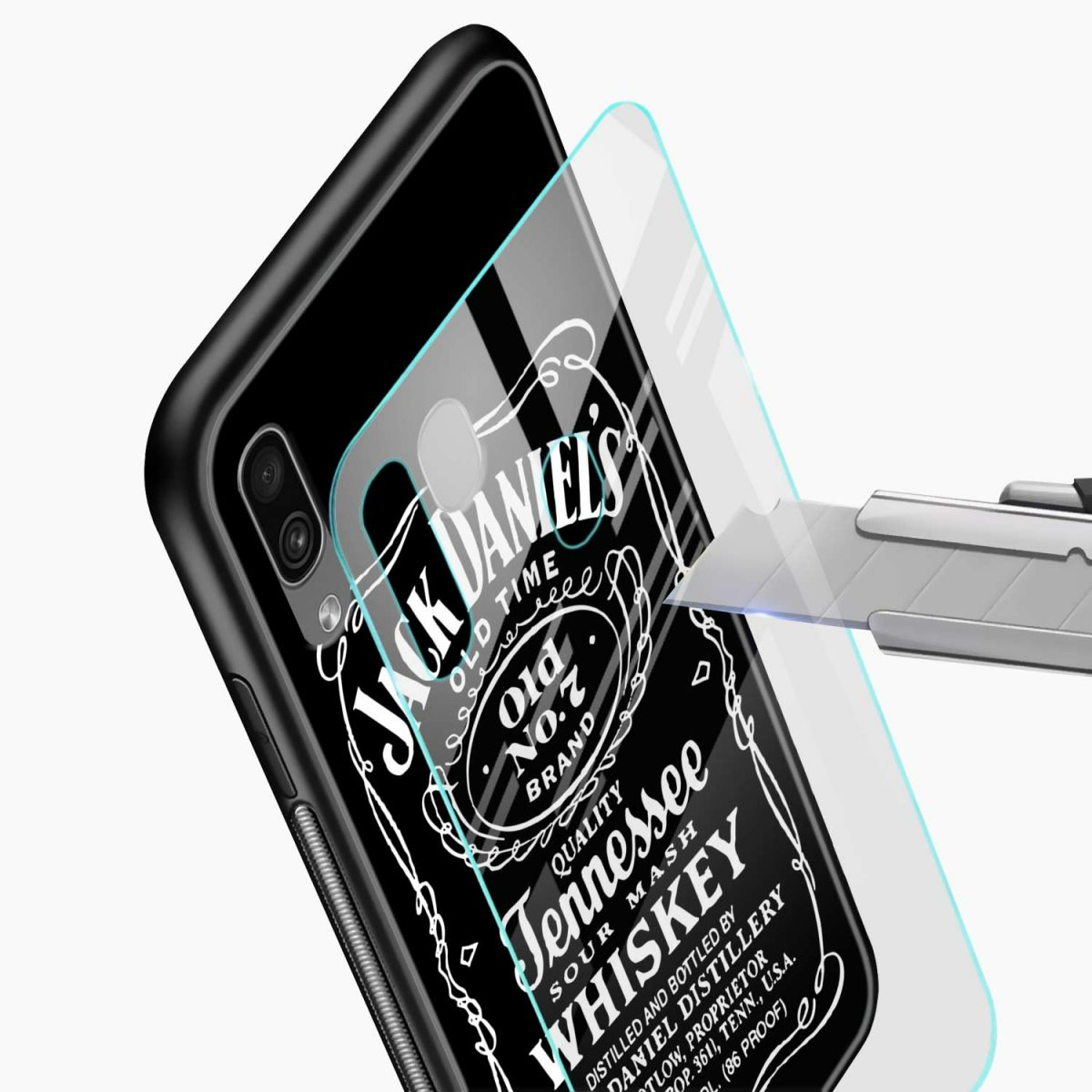 jack daniels whiskey glass view samsung galaxy a30 back cover