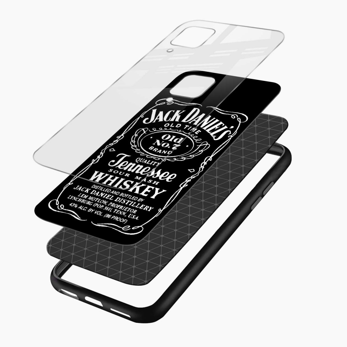jack daniels whiskey layers view samsung galaxy a12 back cover