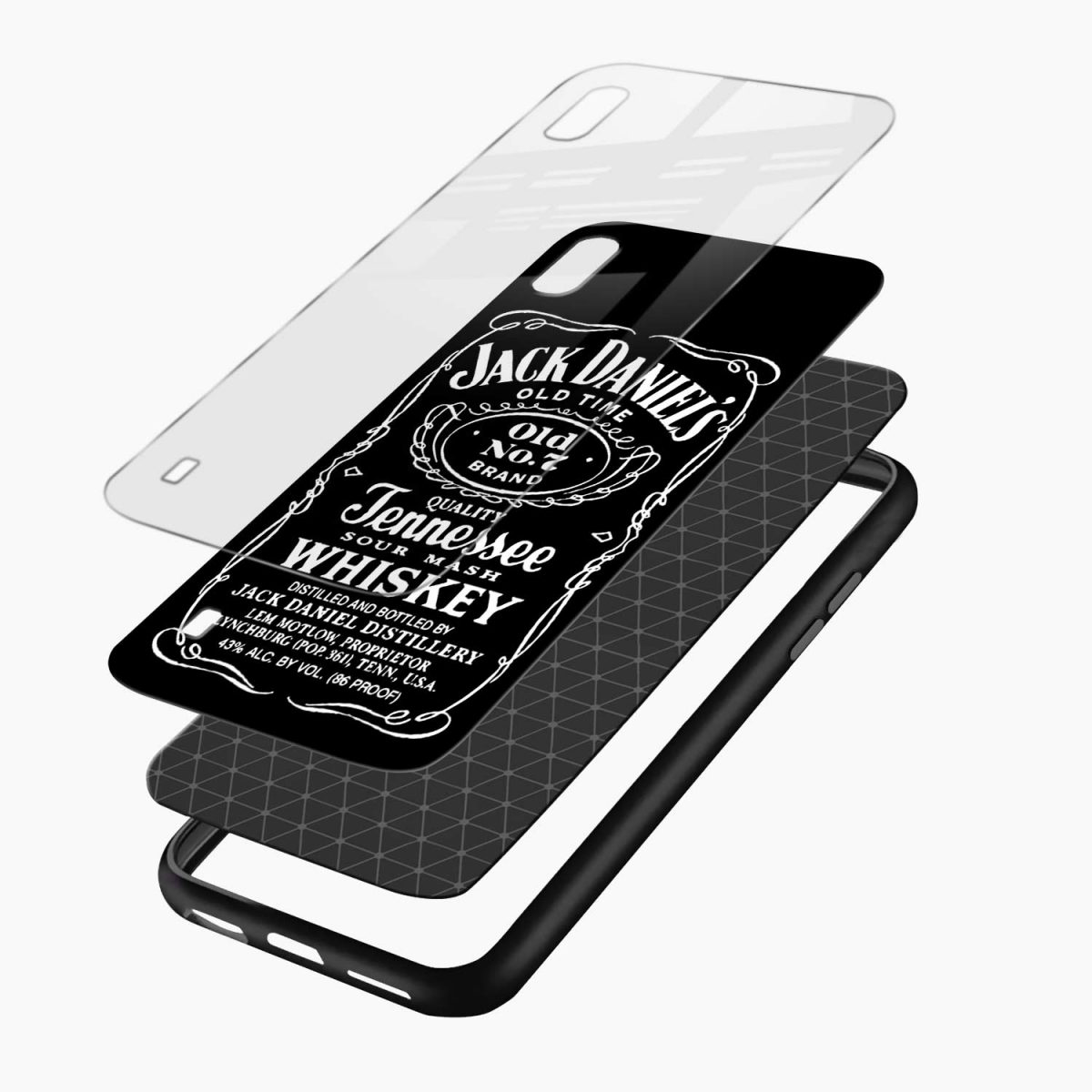 jack daniels whiskey layers view samsung galaxy a10 back cover