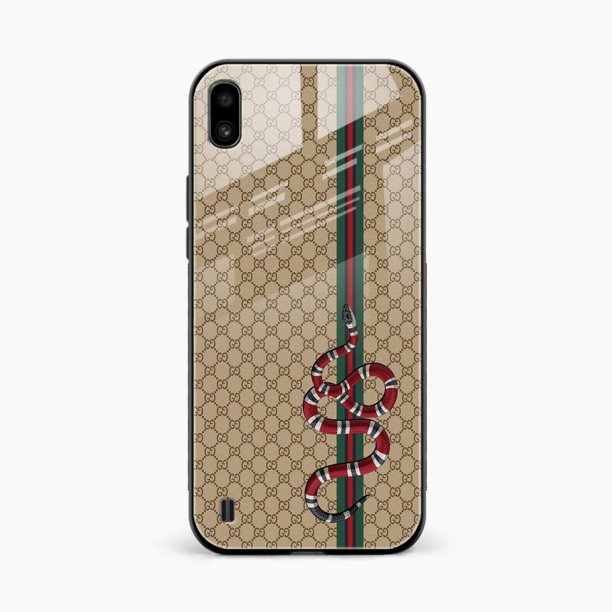gucci snake pattern front view samsung galaxy a10 back cover