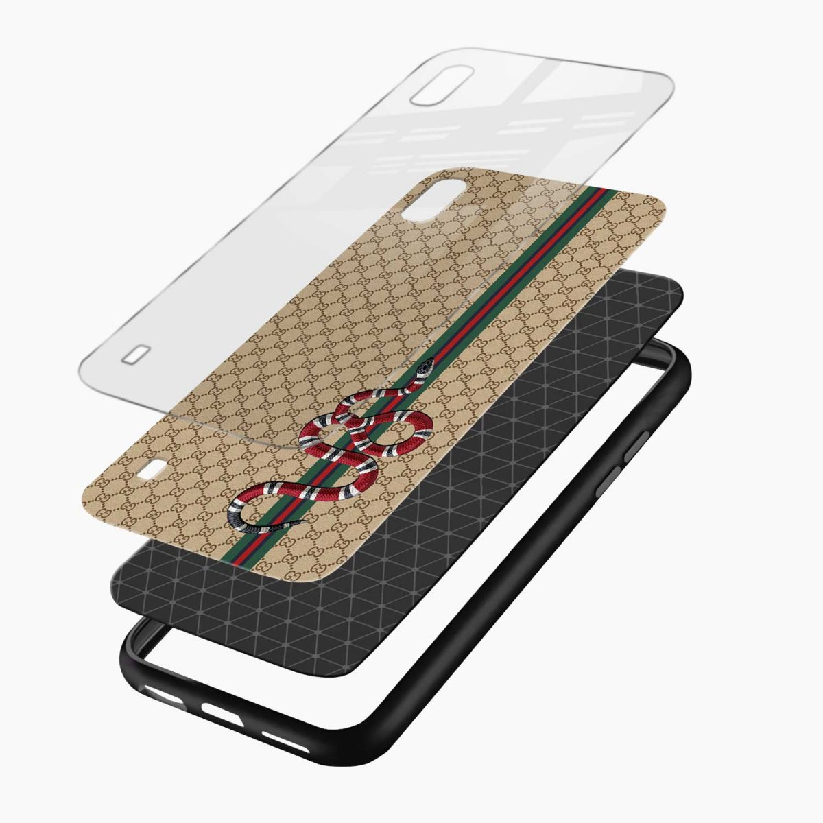 gucci snake pattern layers view samsung galaxy a10 back cover