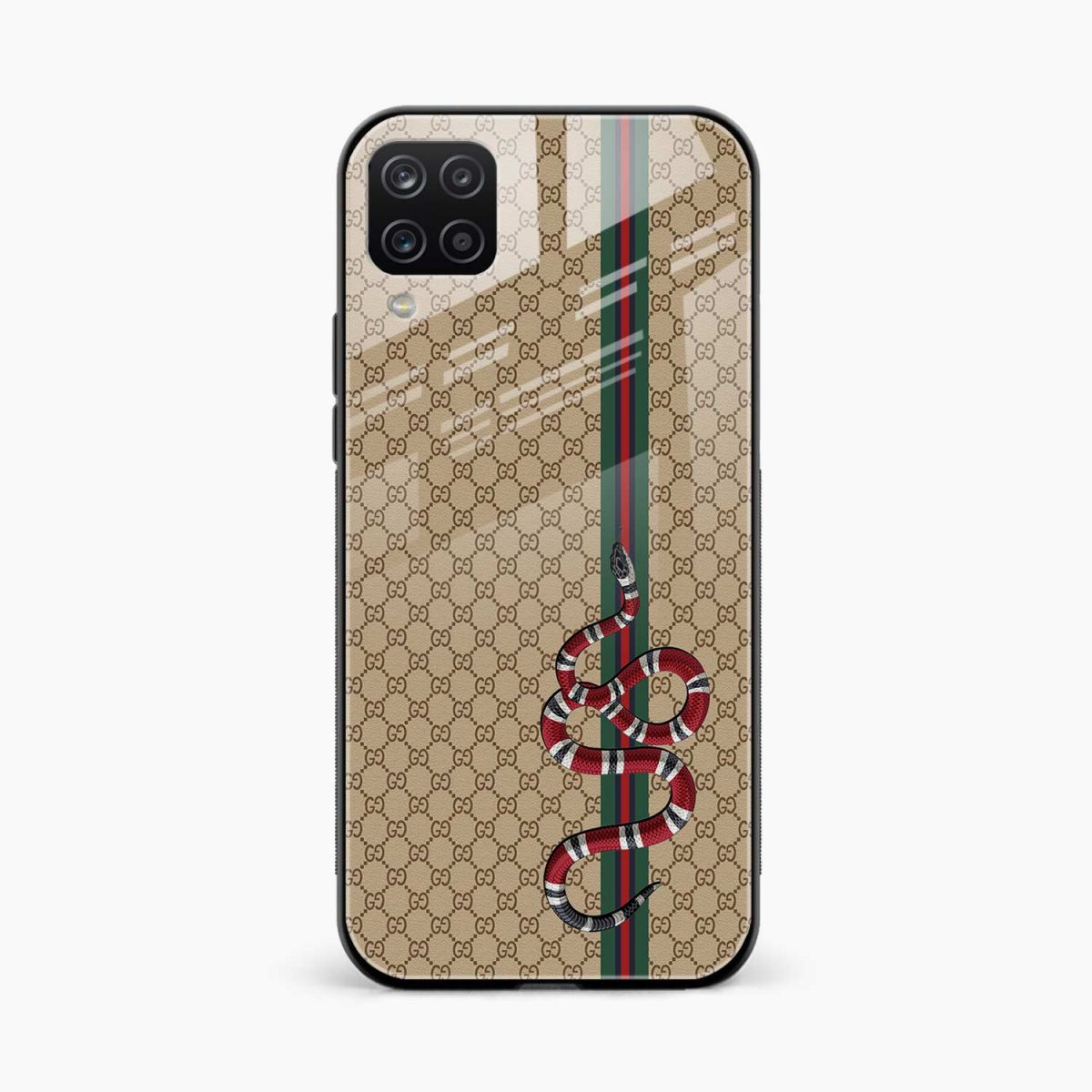 gucci snake pattern front view samsung galaxy a12 back cover