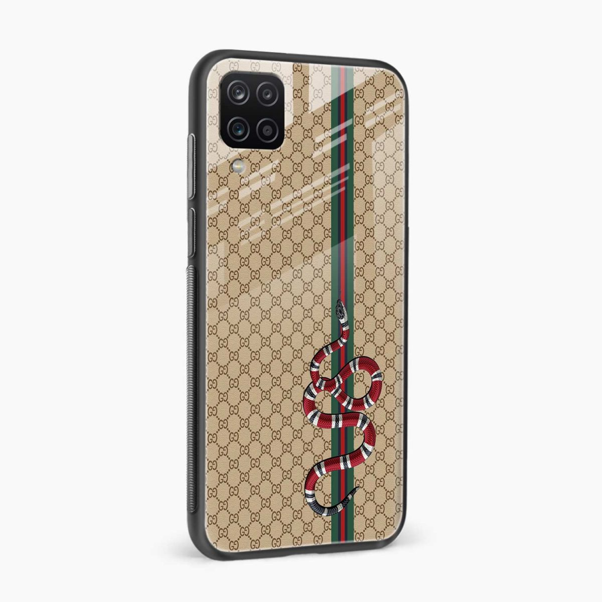 gucci snake pattern side view samsung galaxy a12 back cover