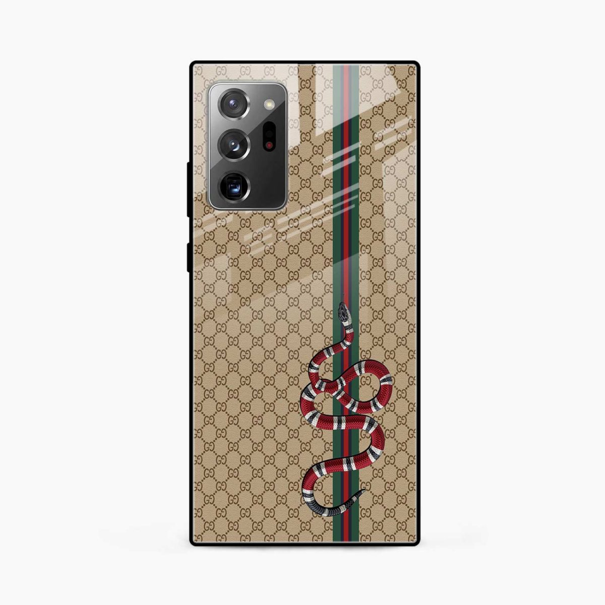 gucci snake pattern front view samsung galaxy note20 ultra back cover
