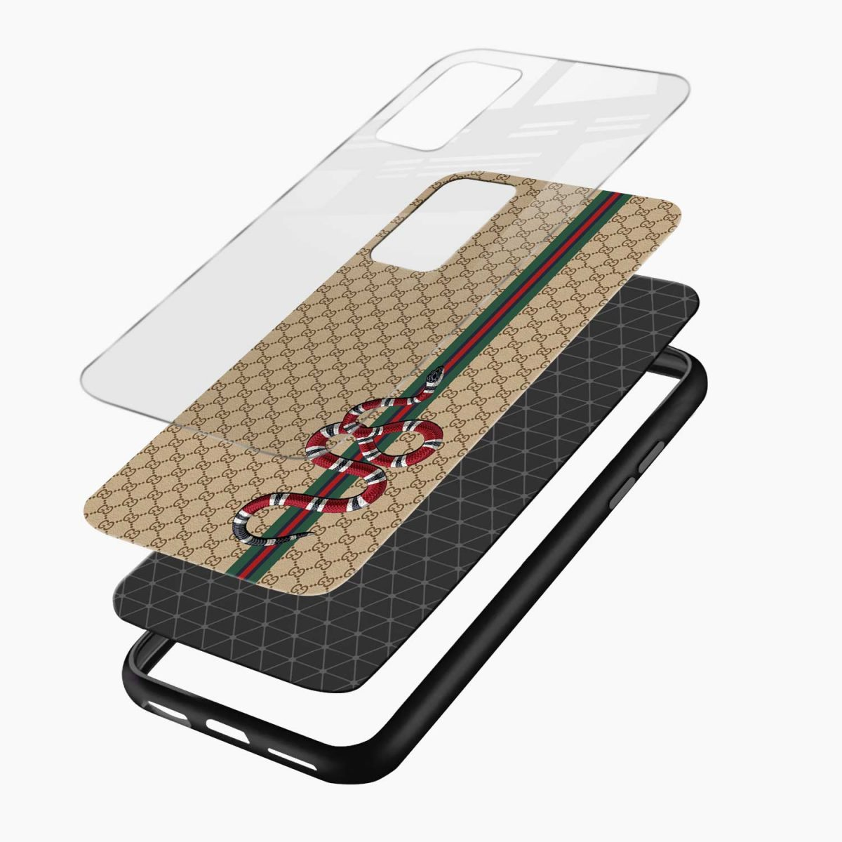 gucci snake pattern layers view samsung galaxy note20 ultra back cover