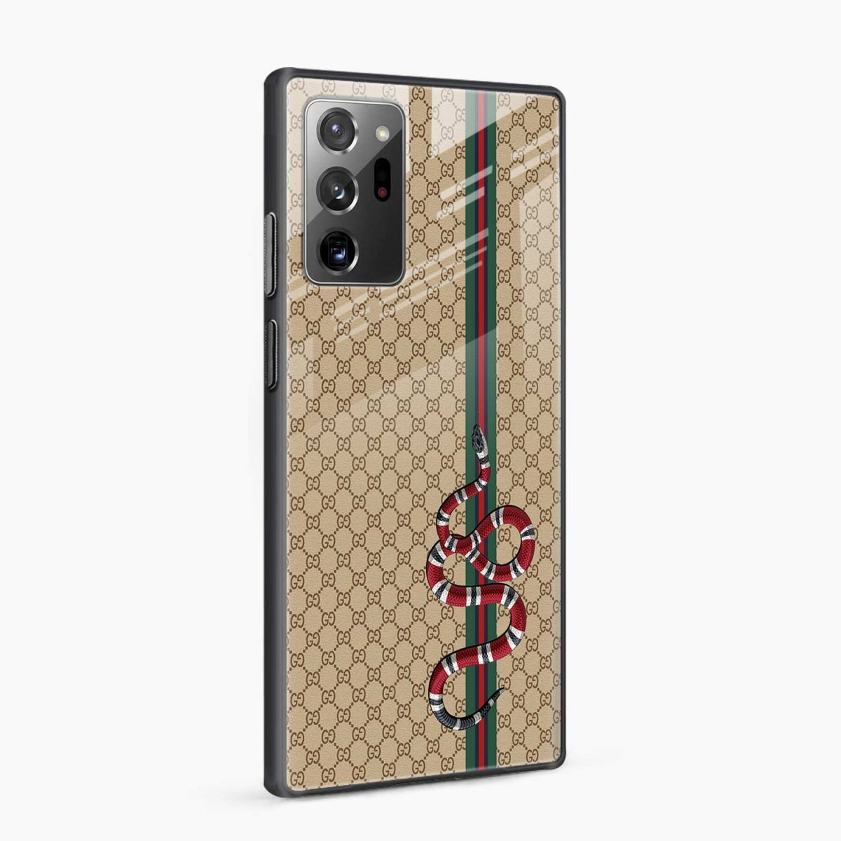 gucci snake pattern side view samsung galaxy note20 ultra back cover