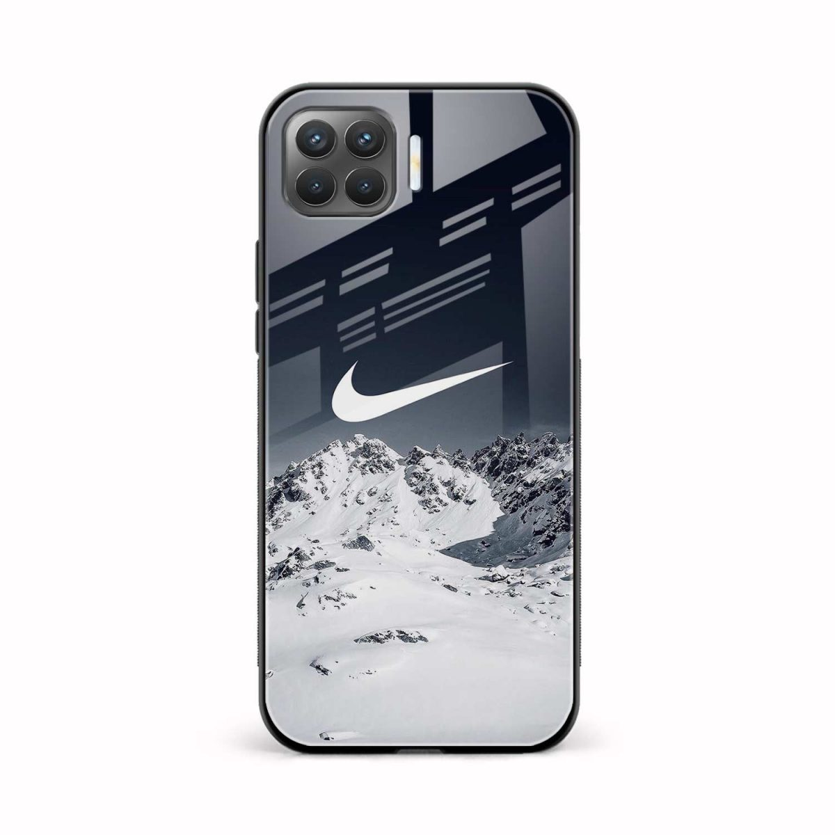 nike mountains front view oppo f17 pro back cover