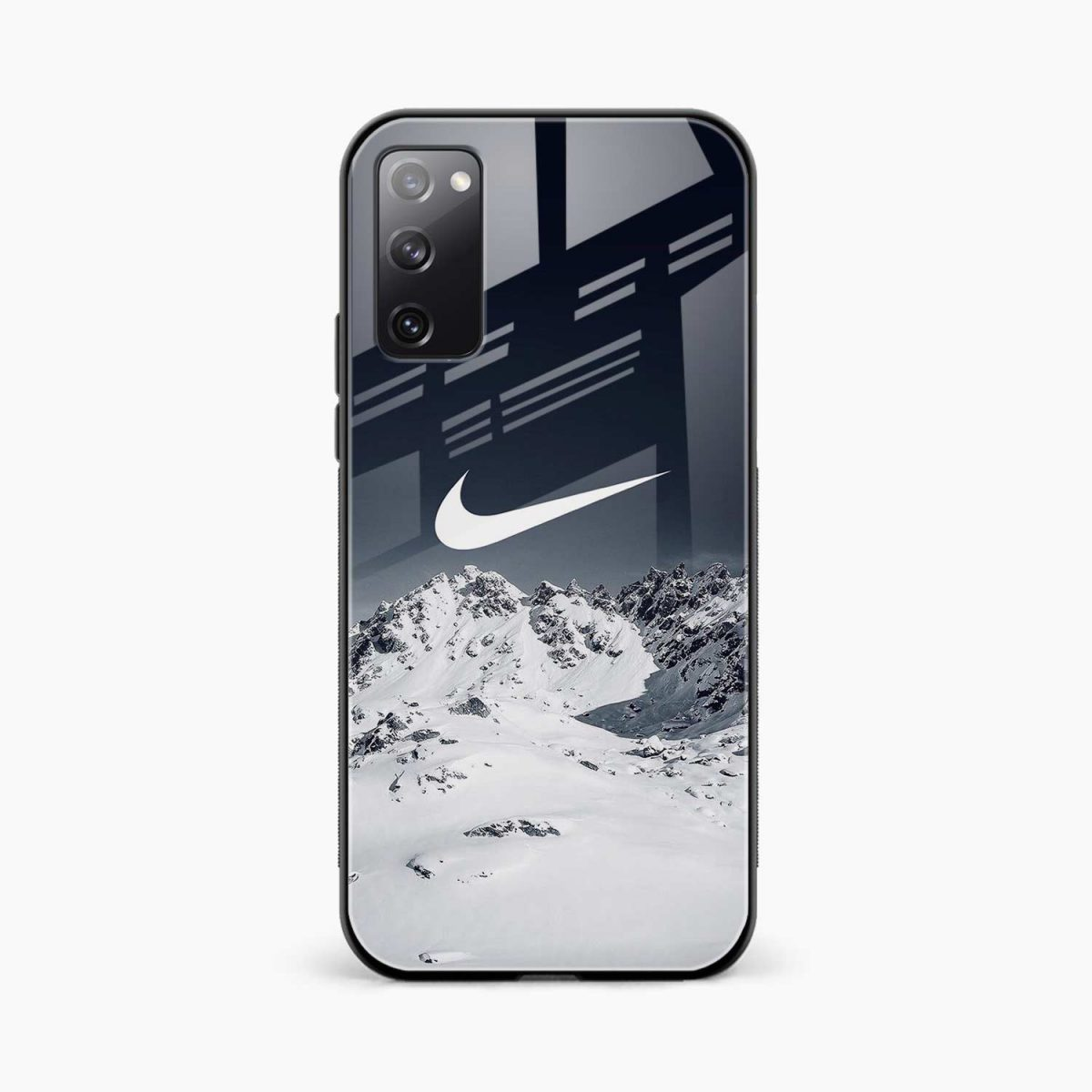 nike mountains front view samsung galaxy s20 fe back cover