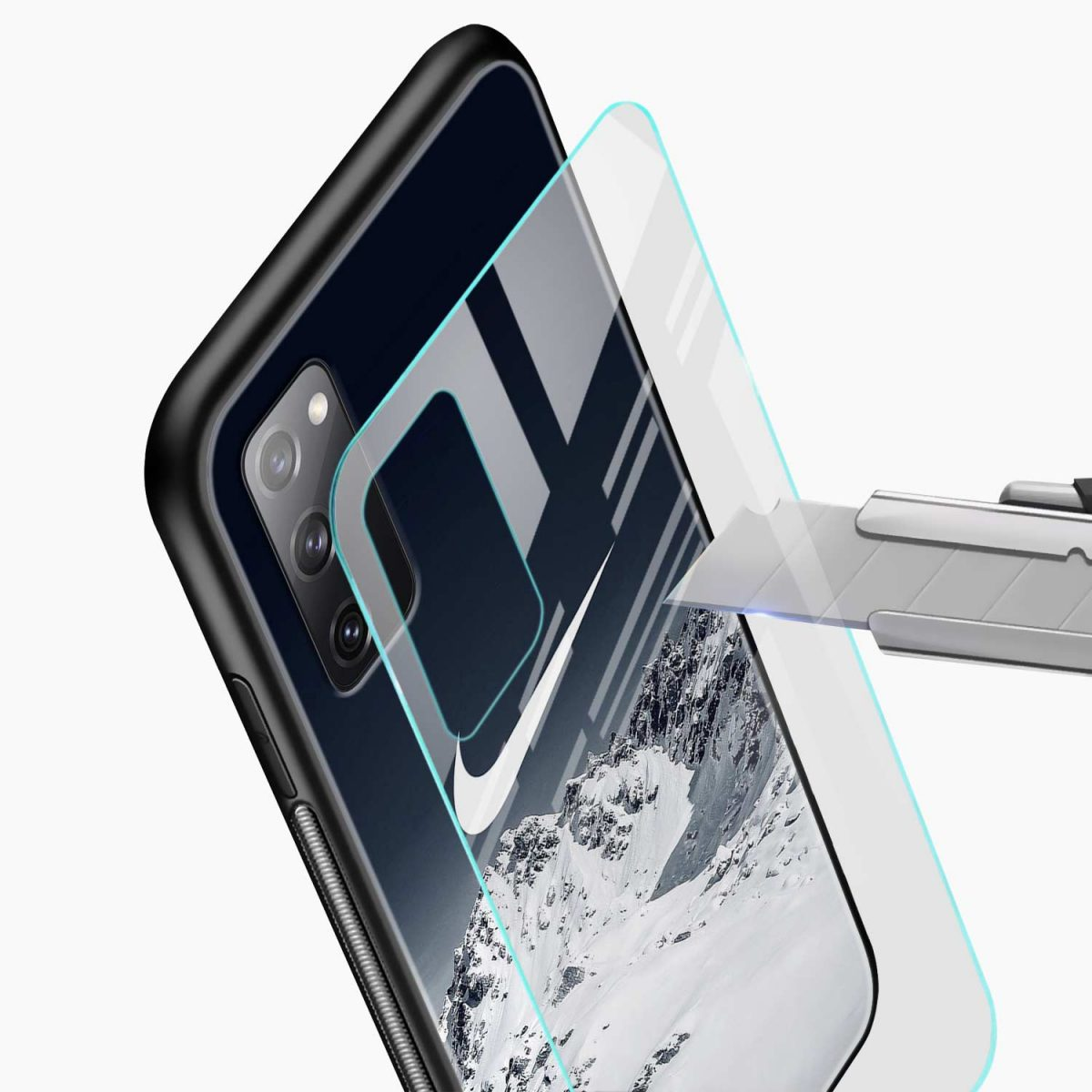 nike mountains glass view samsung galaxy s20 fe back cover