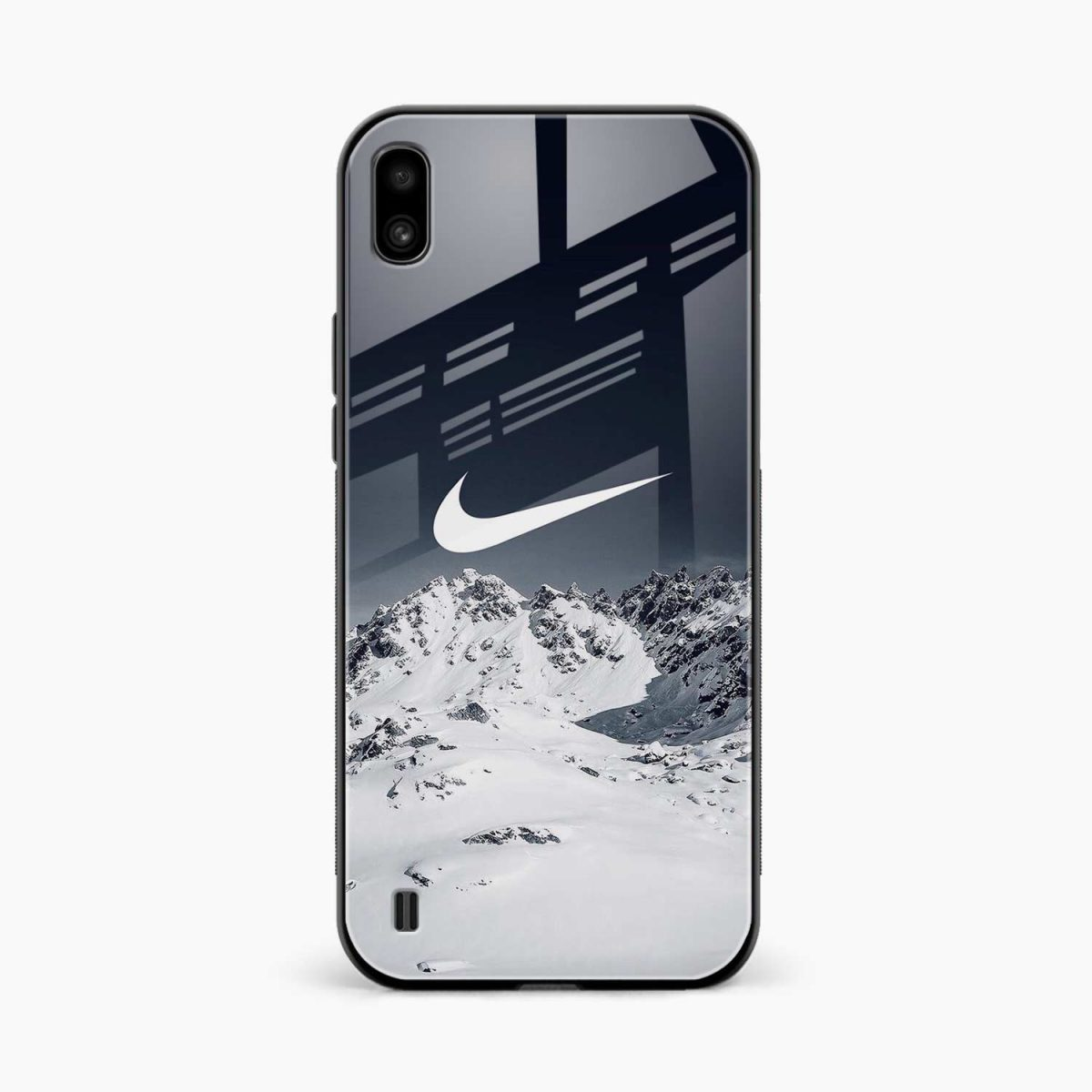 nike mountains front view samsung galaxy a10 back cover