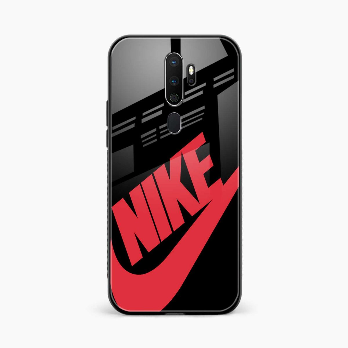 big red nike front view oppo a5 back cover