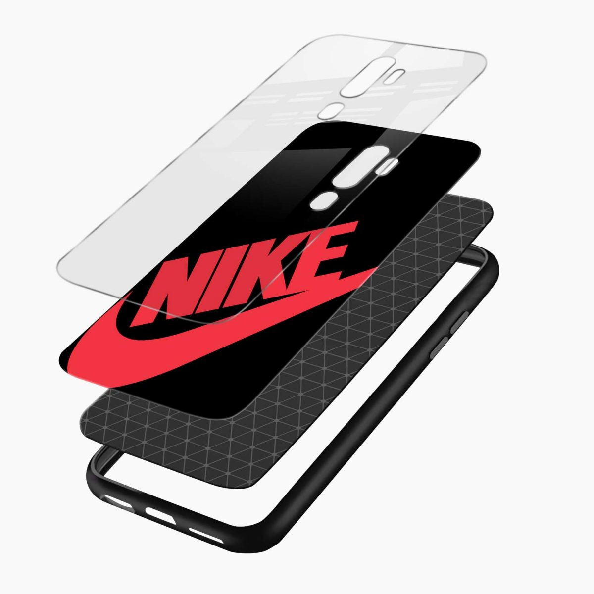 big red nike layers view oppo a5 back cover