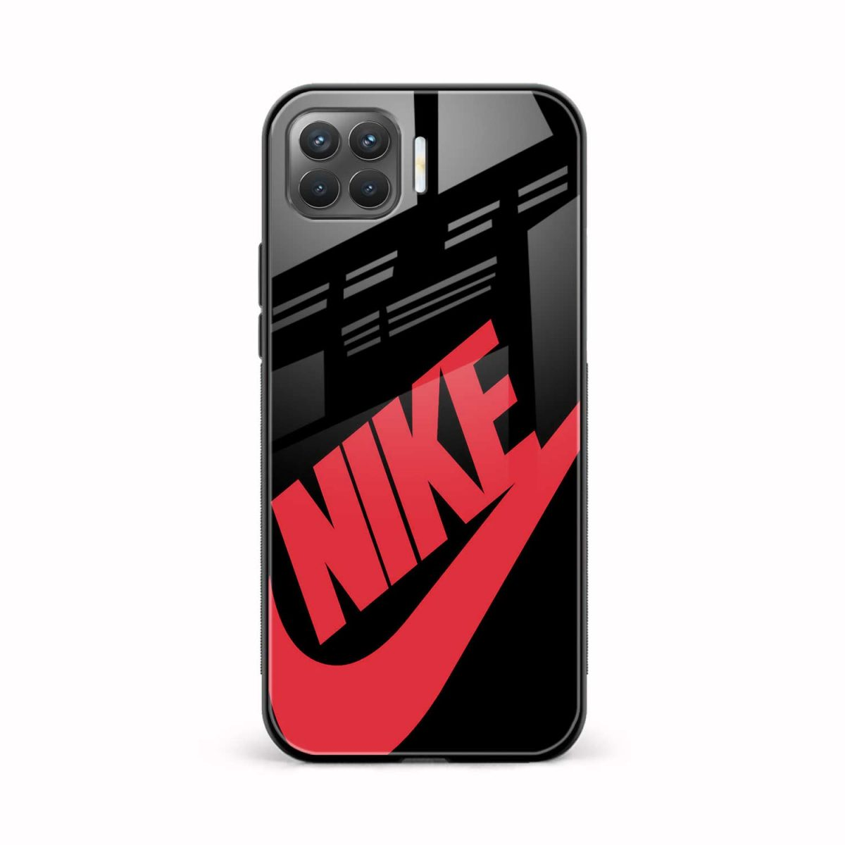 big red nike front view oppo f17 pro back cover
