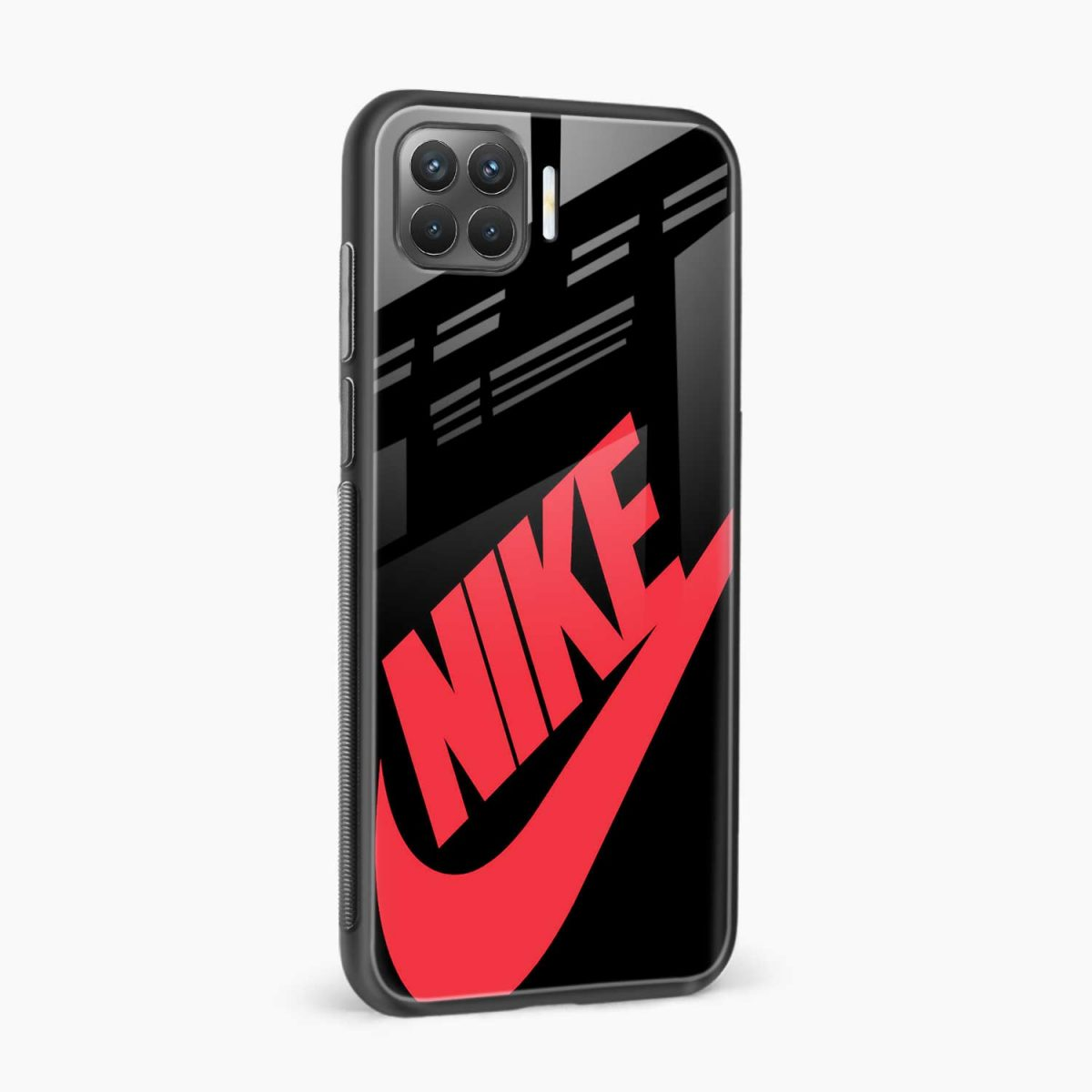 big red nike side view oppo f17 pro back cove