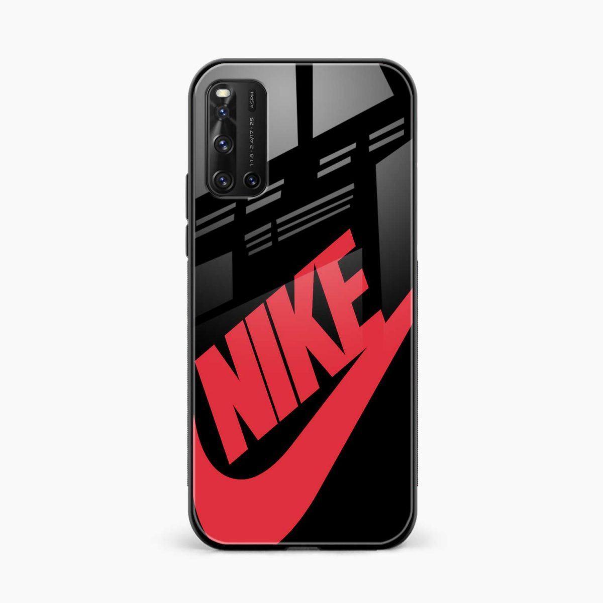 big red nike front view vivo v19 back cover