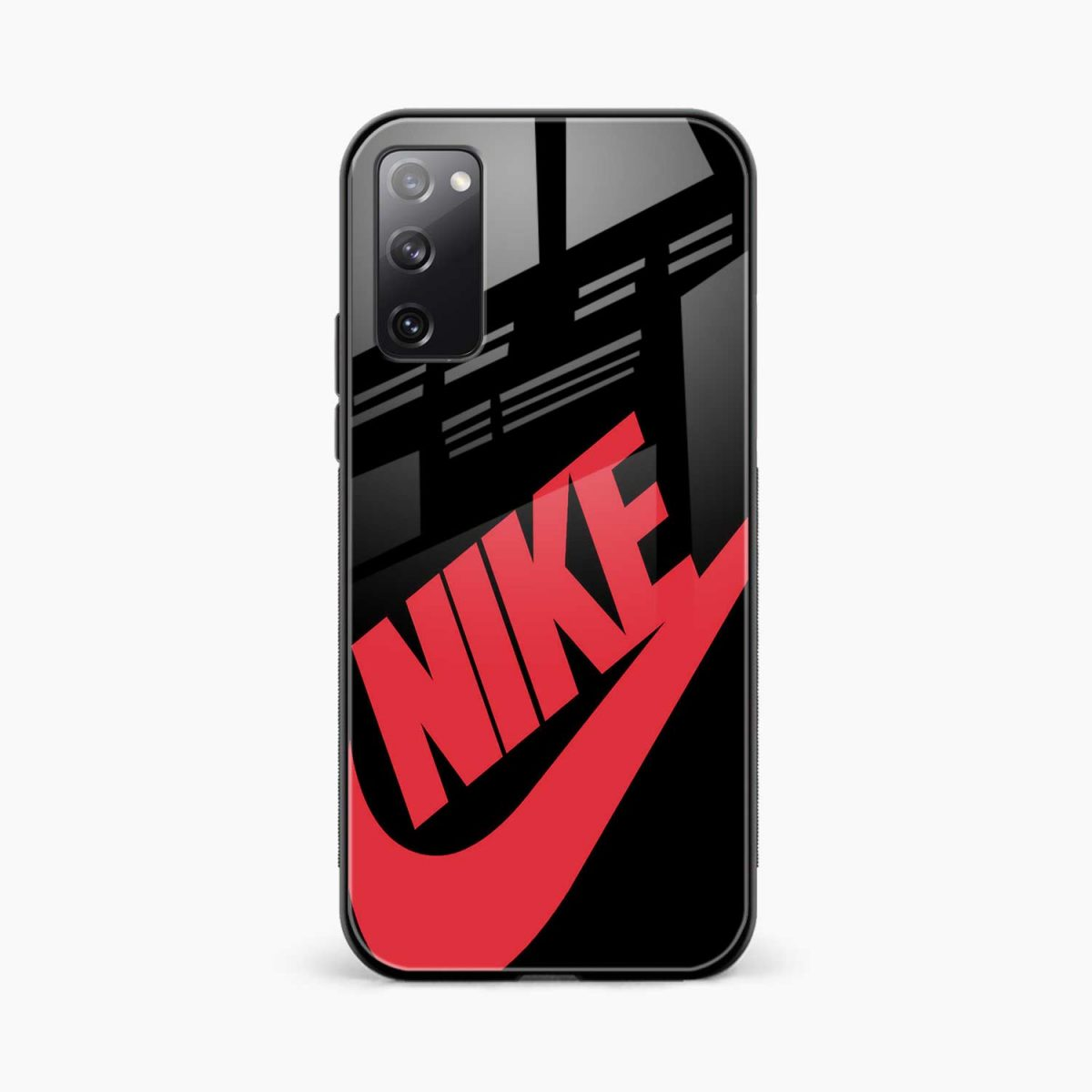 big red nike front view samsung galaxy s20 fe back cover