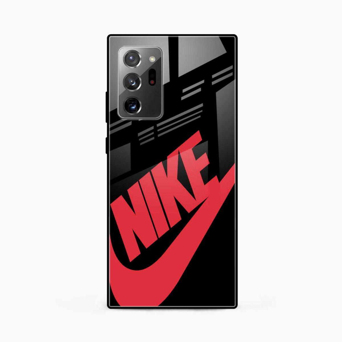 big red nike front view samsung galaxy note20 ultra back cover