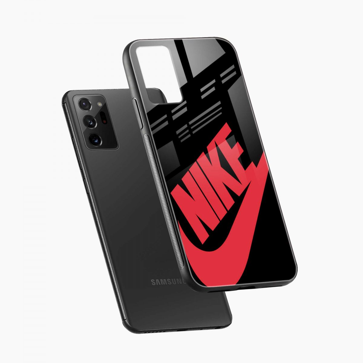 big red nike diagonal view samsung galaxy note20 ultra back cover