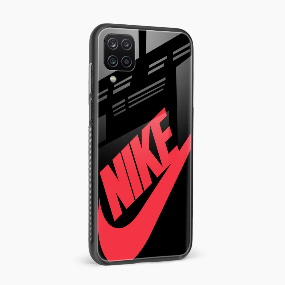 big red nike side view samsung galaxy a12 back cover