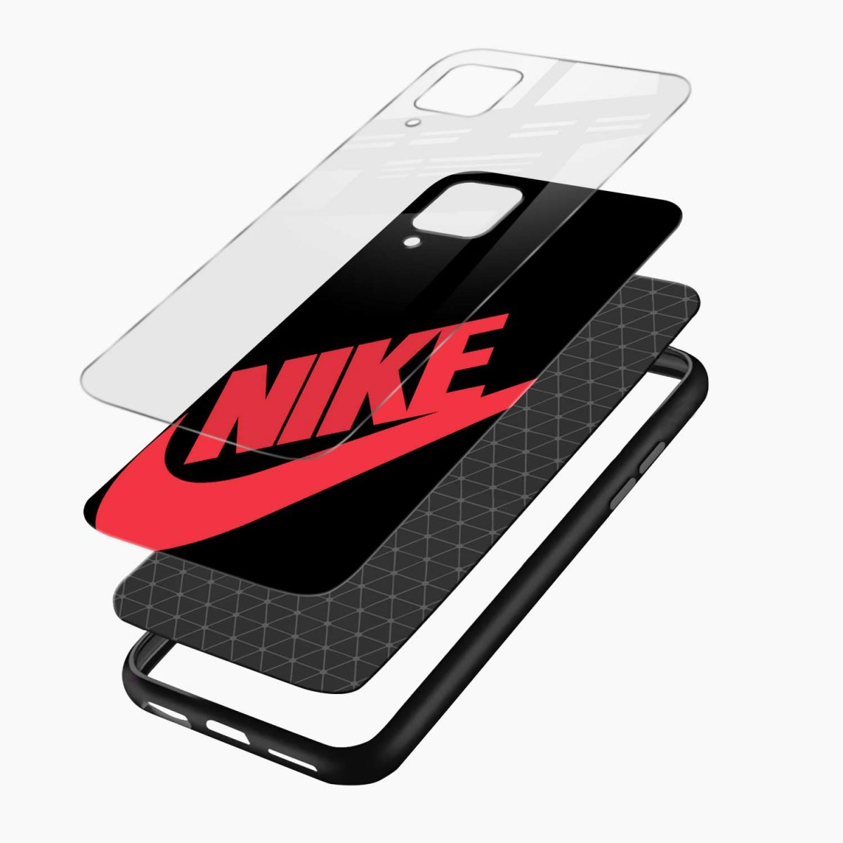big red nike layers view samsung galaxy a12 back cover