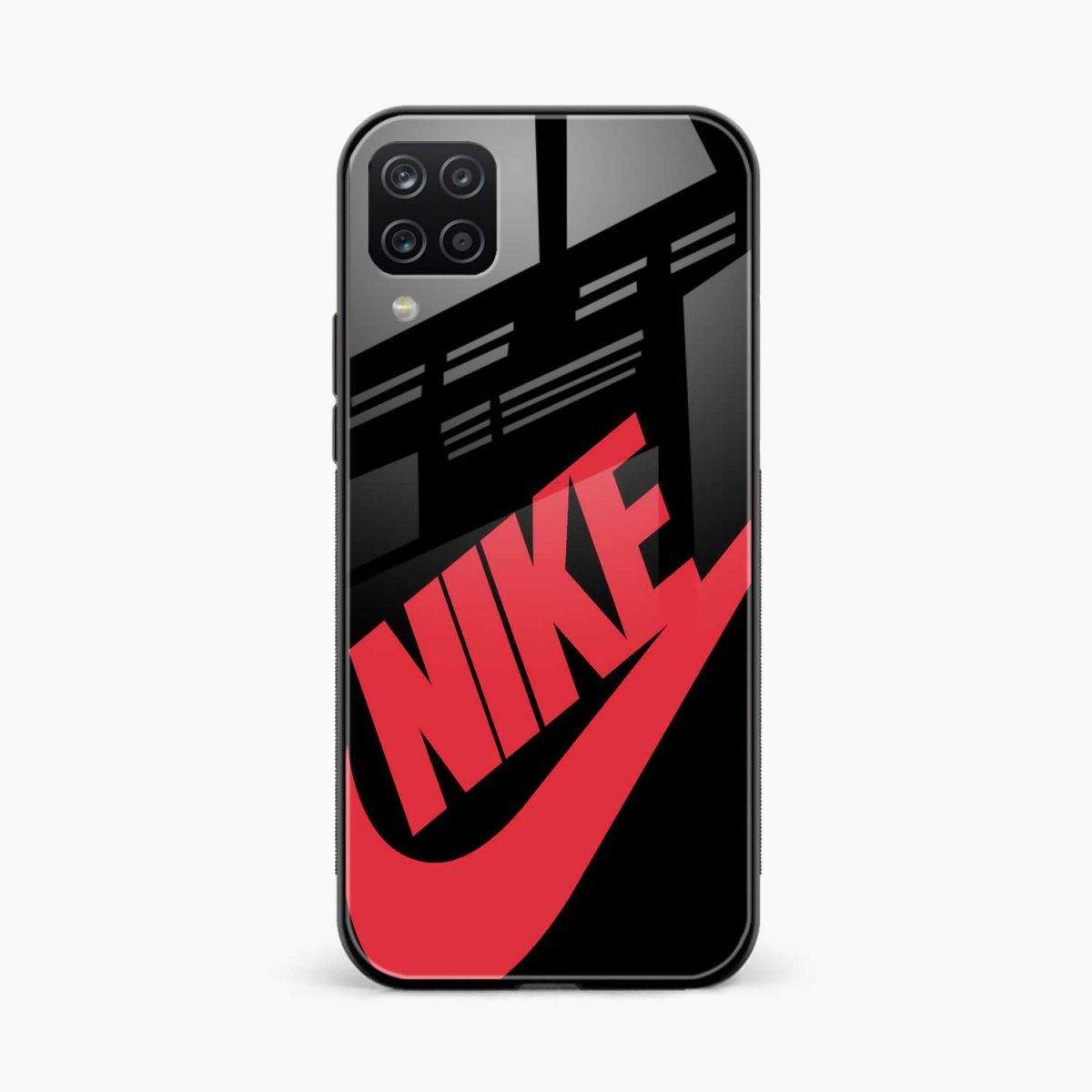 big red nike front view samsung galaxy a12 back cover