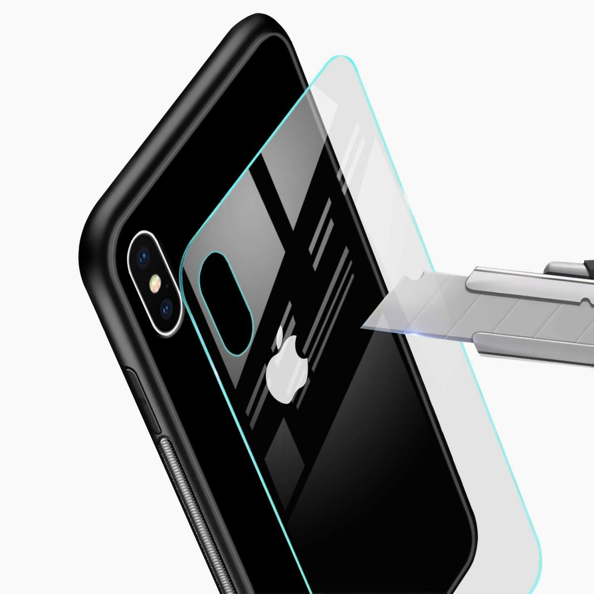 simply elegant glass view apple iphone x xs max back cover