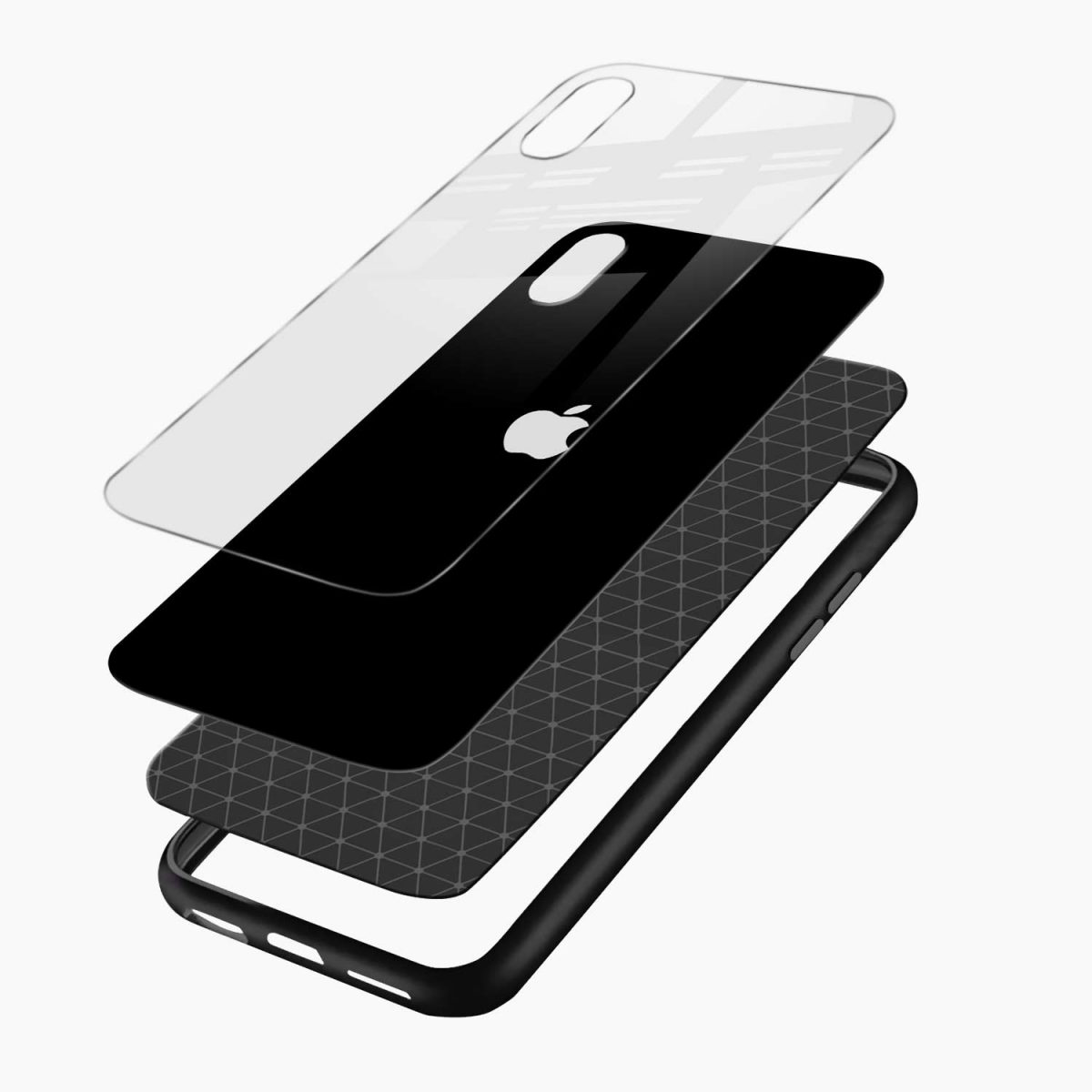 simply elegant layers view apple iphone x xs max back cover