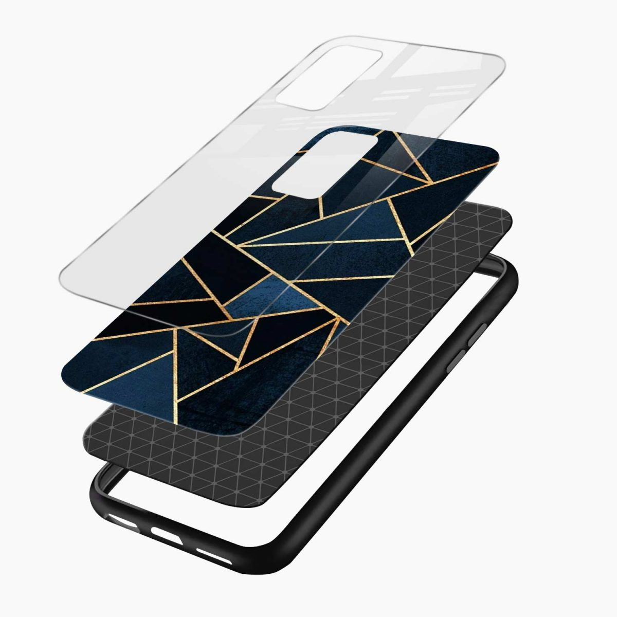 zig zag pattern layers view samsung galaxy s20 fe back cover