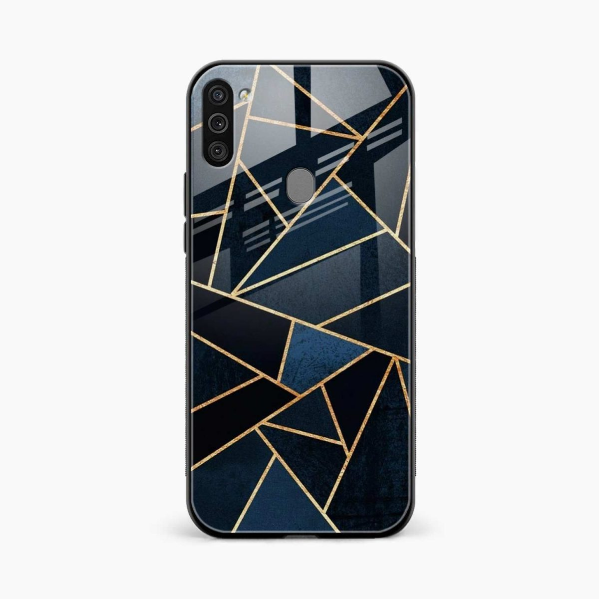 zig zag pattern front view samsung galaxy m11 back cover