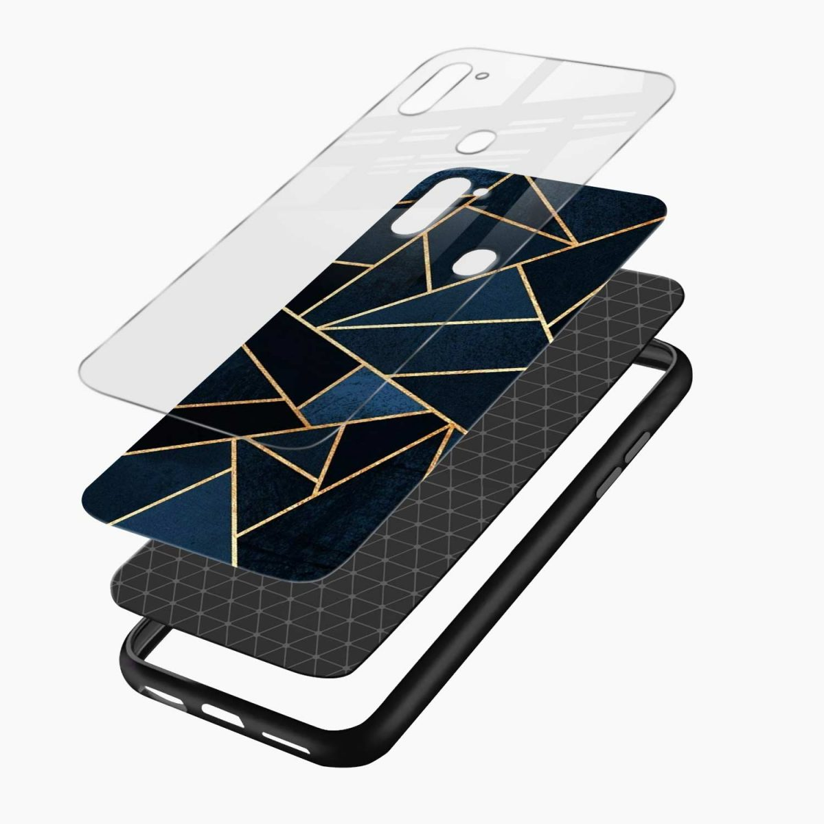 zig zag pattern layers view samsung galaxy m11 back cover