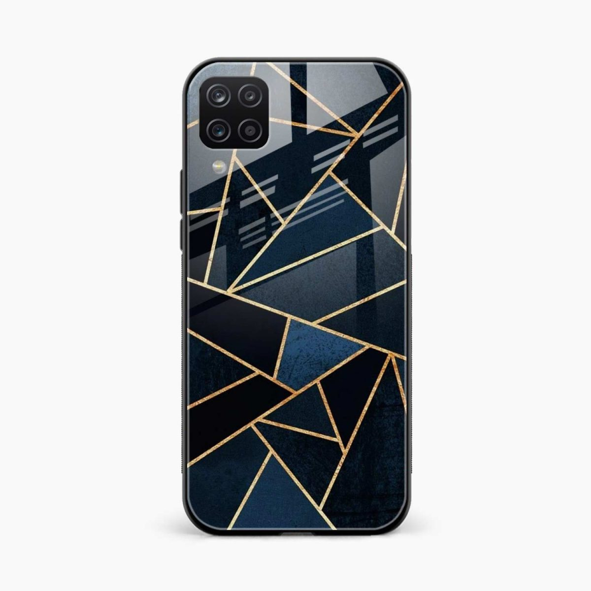 zig zag pattern front view samsung galaxy a12 back cover