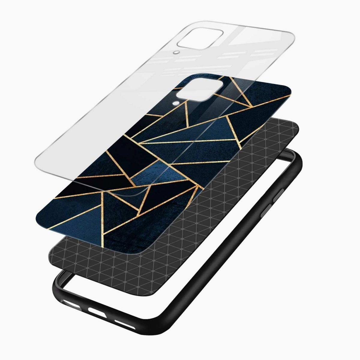 zig zag pattern layers view samsung galaxy a12 back cover