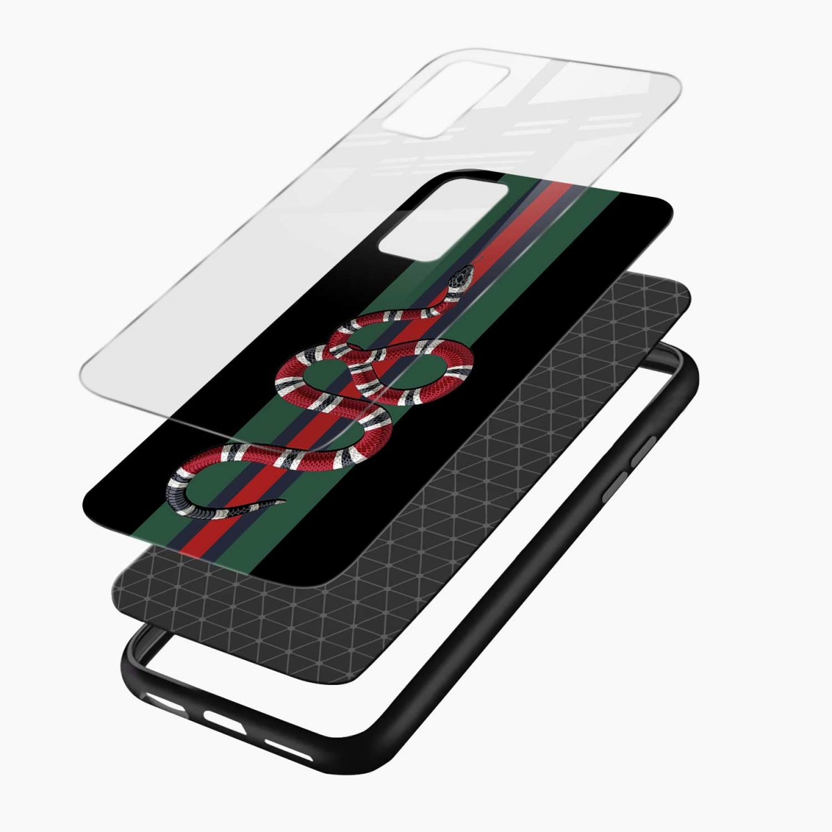 gucci snake with strips layers view vivo v17 back cove