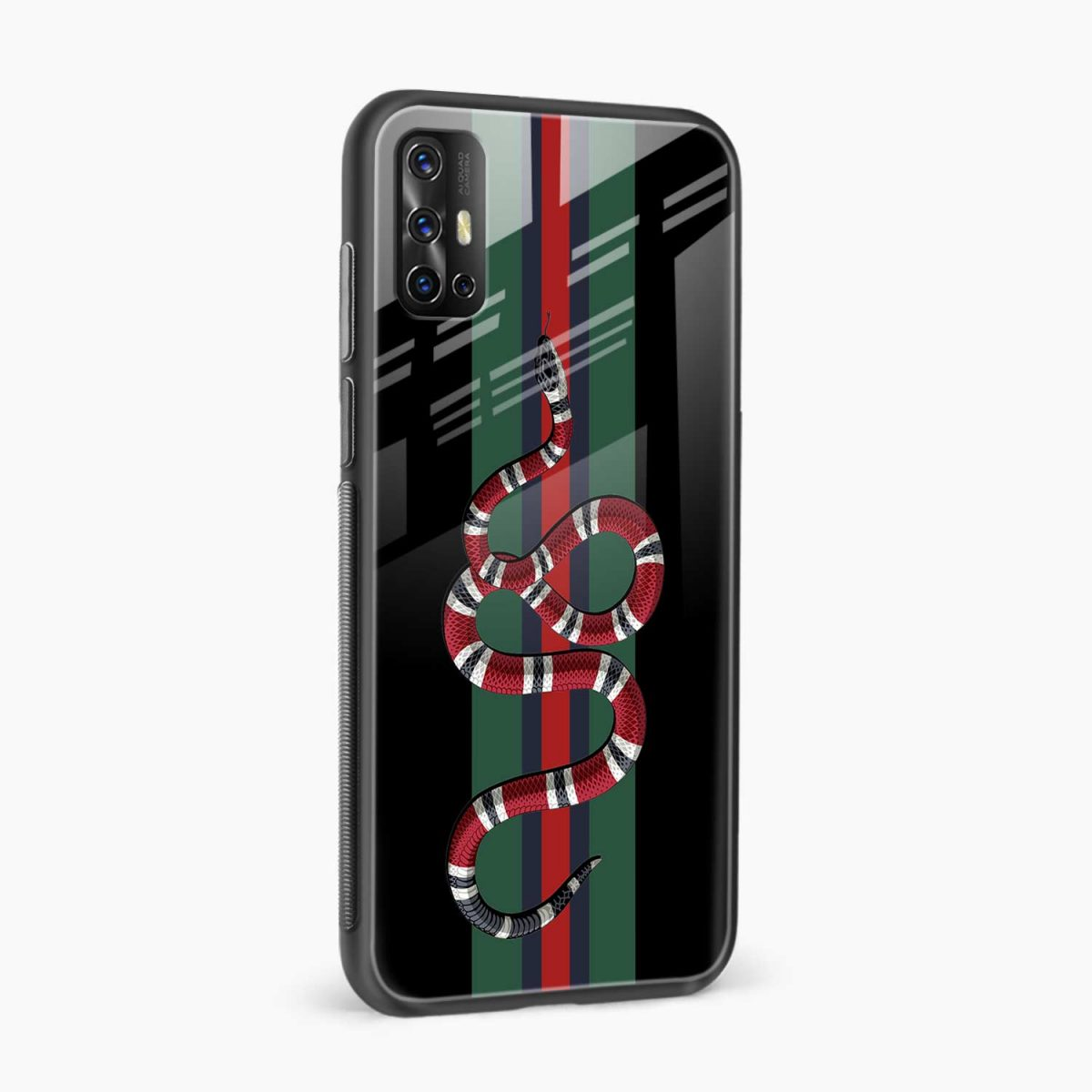 gucci snake with strips side view vivo v17 back cove