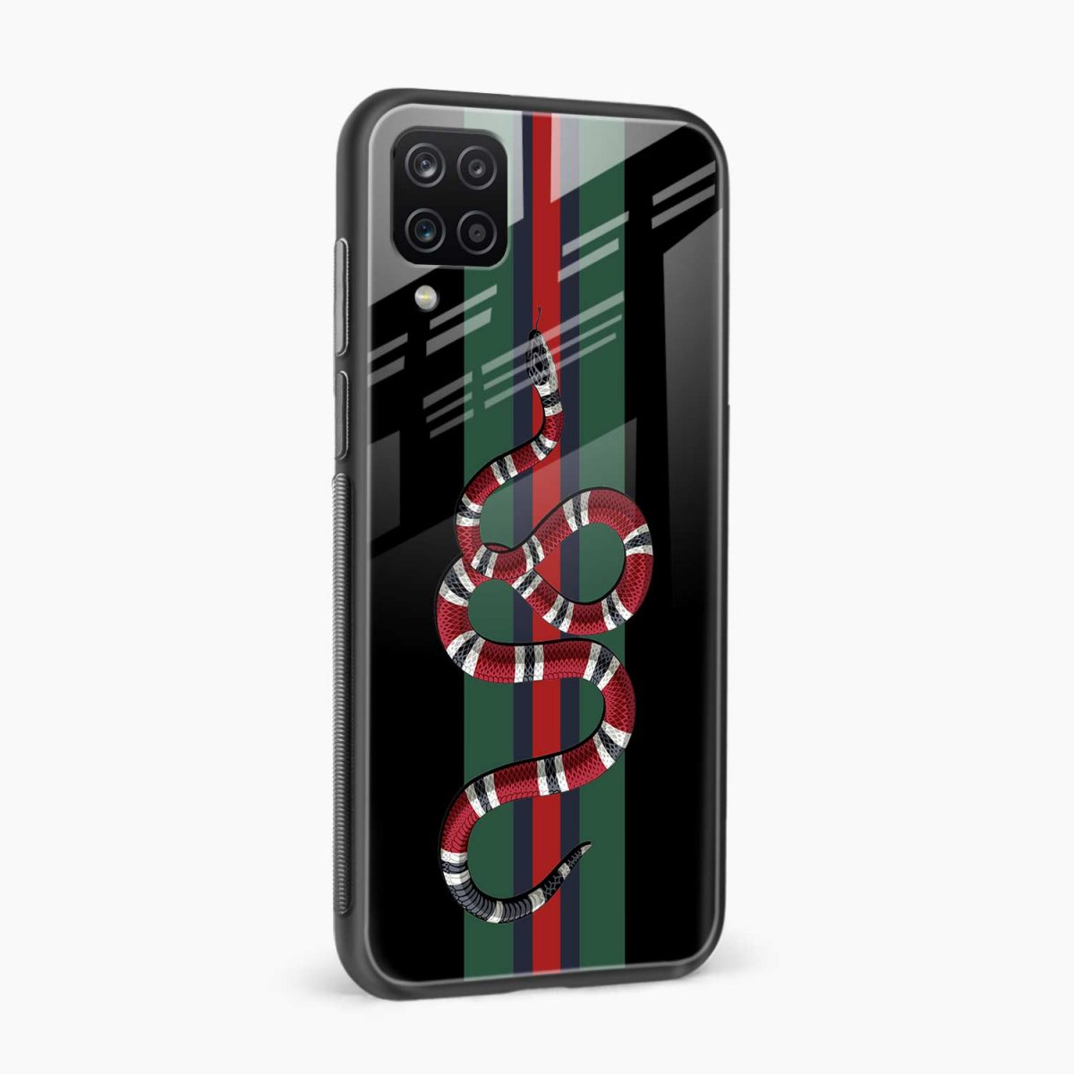 gucci snake with strips side view samsung galaxy a12 back cover
