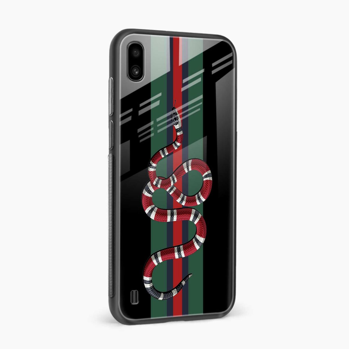 gucci snake with strips side view samsung galaxy a10 back cover