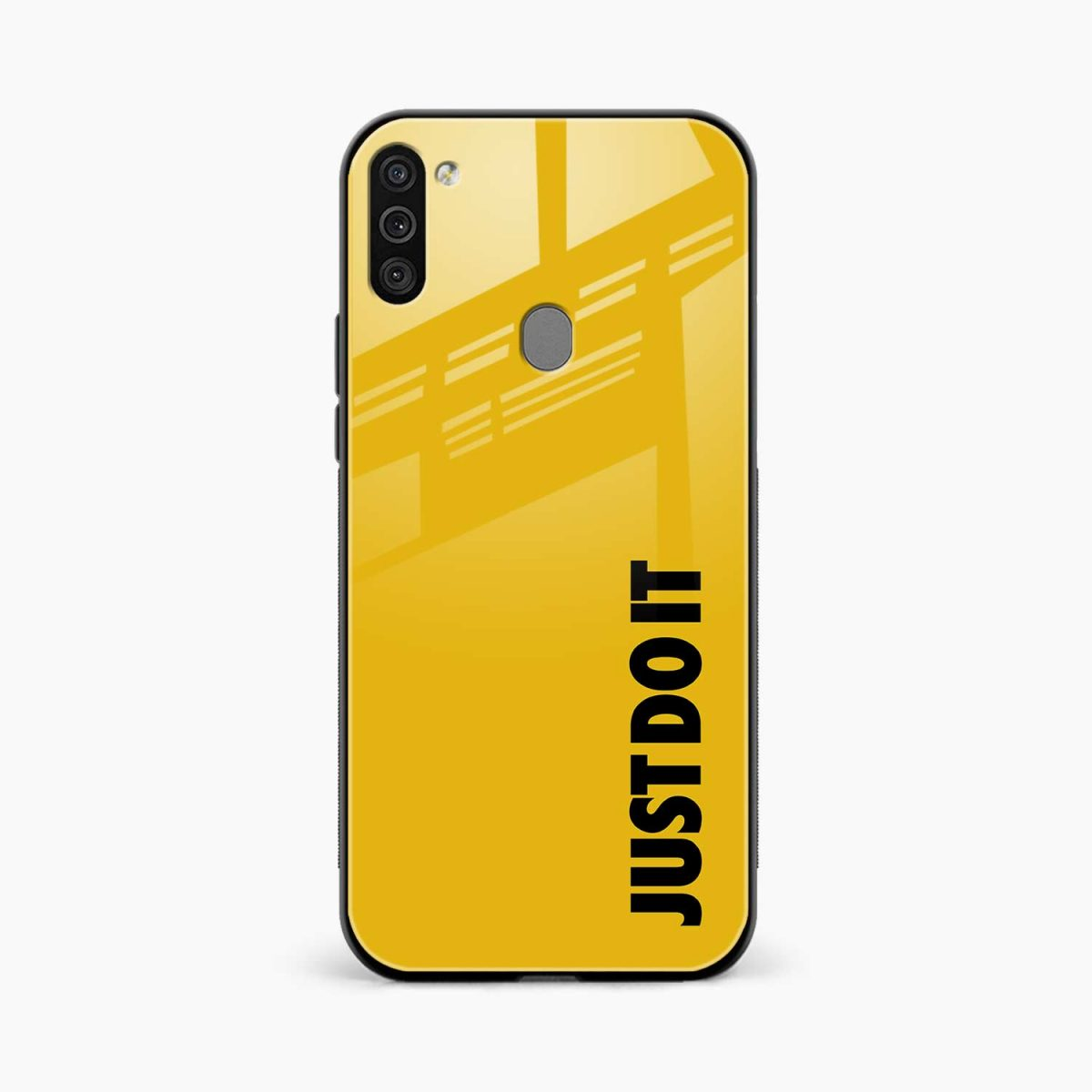 just do it front view samsung galaxy m11 back cover