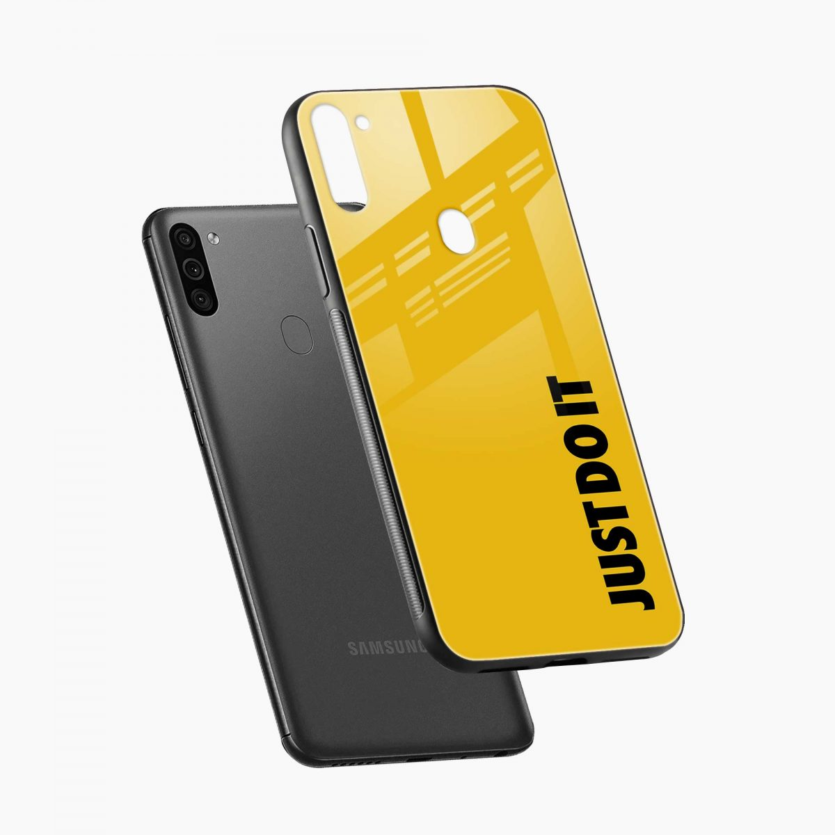 just do it diagonal view samsung galaxy m11 back cover