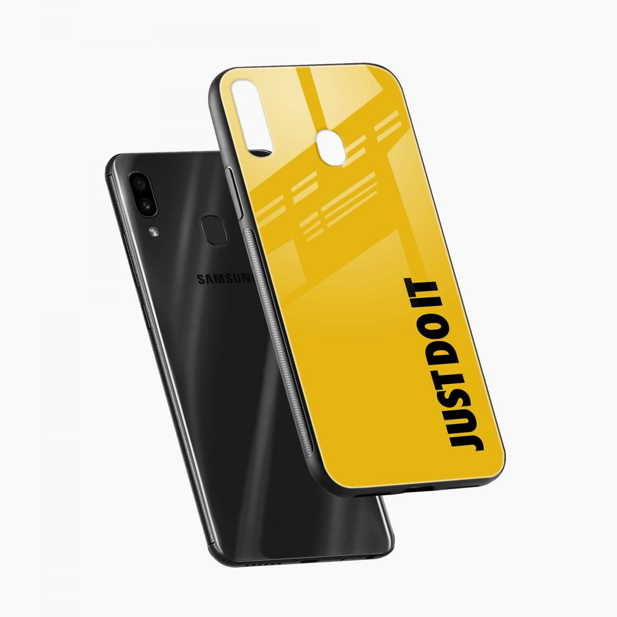 just do it diagonal view samsung galaxy a30 back cover
