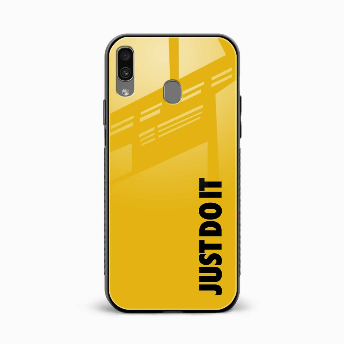 just do it front view samsung galaxy a30 back cover