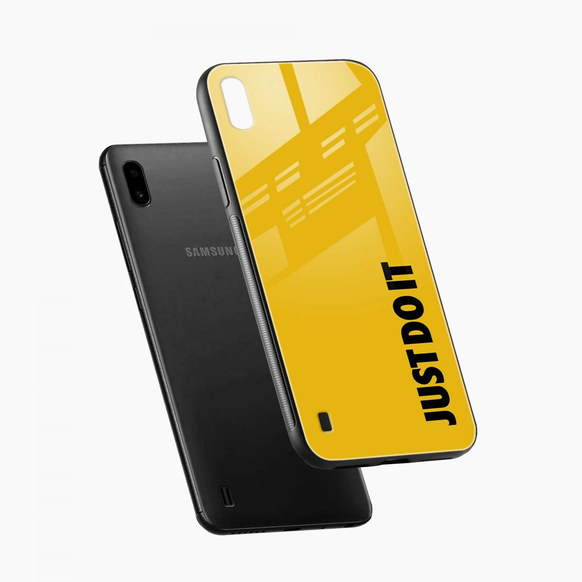 just do it diagonal view samsung galaxy a10 back cover