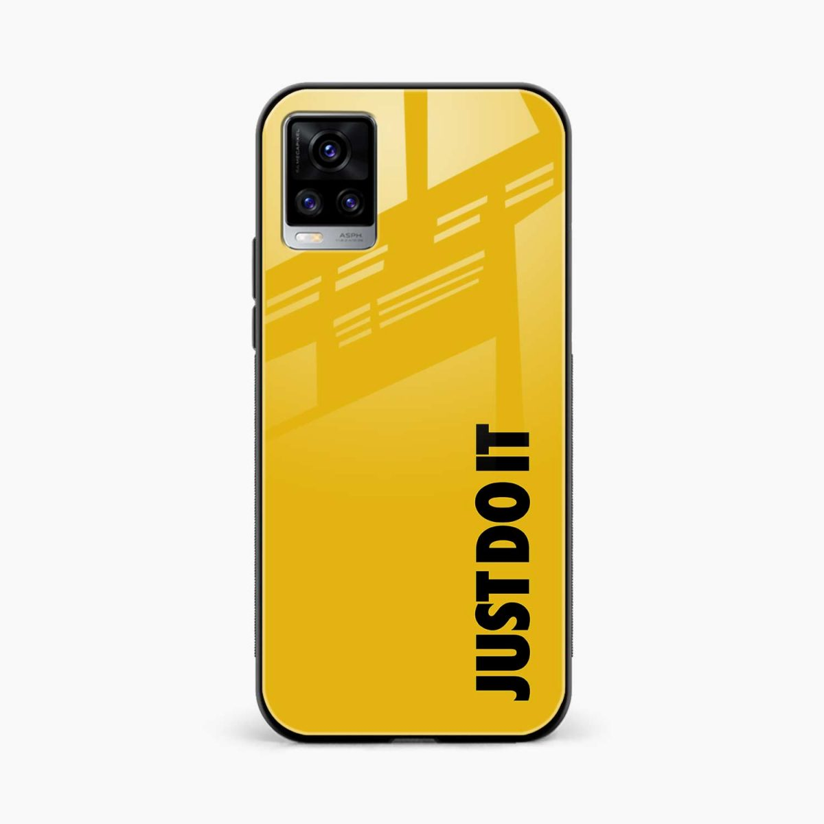just do it front view vivo v20 back cover