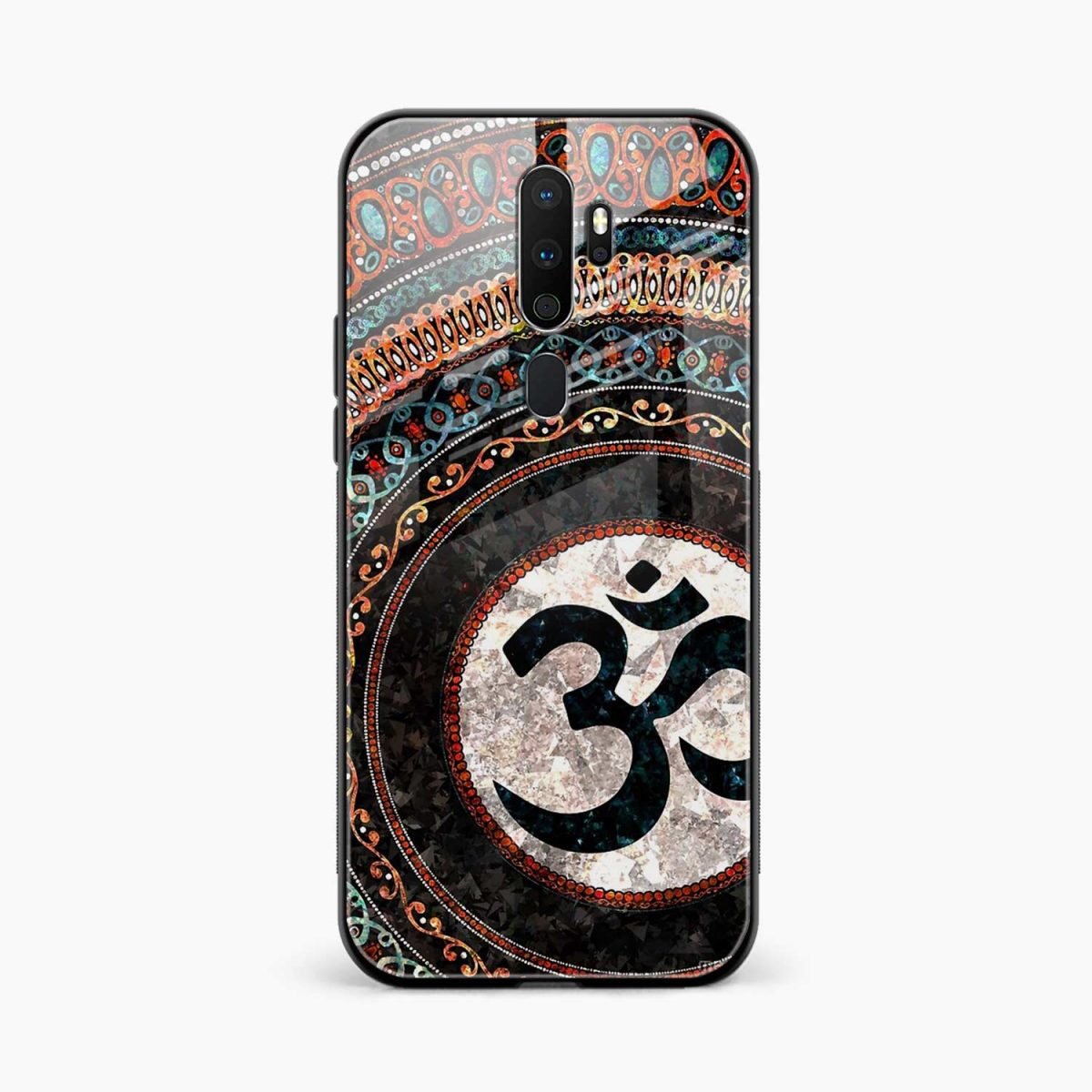 om glass front view oppo a5 back cover