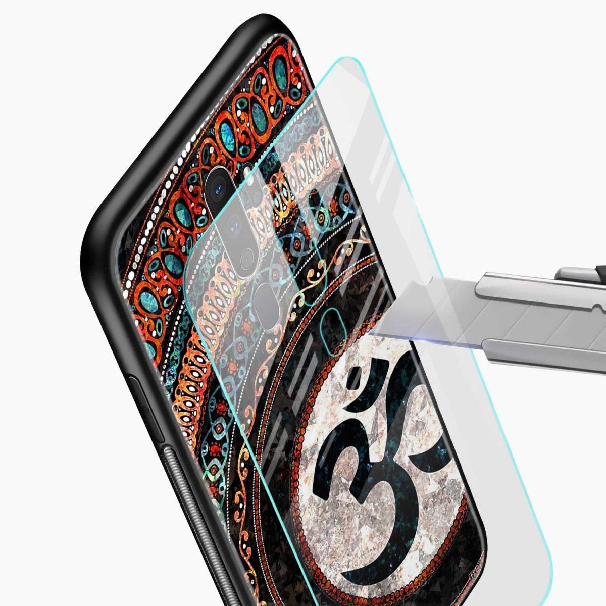 om glass glass view oppo a5 back cover