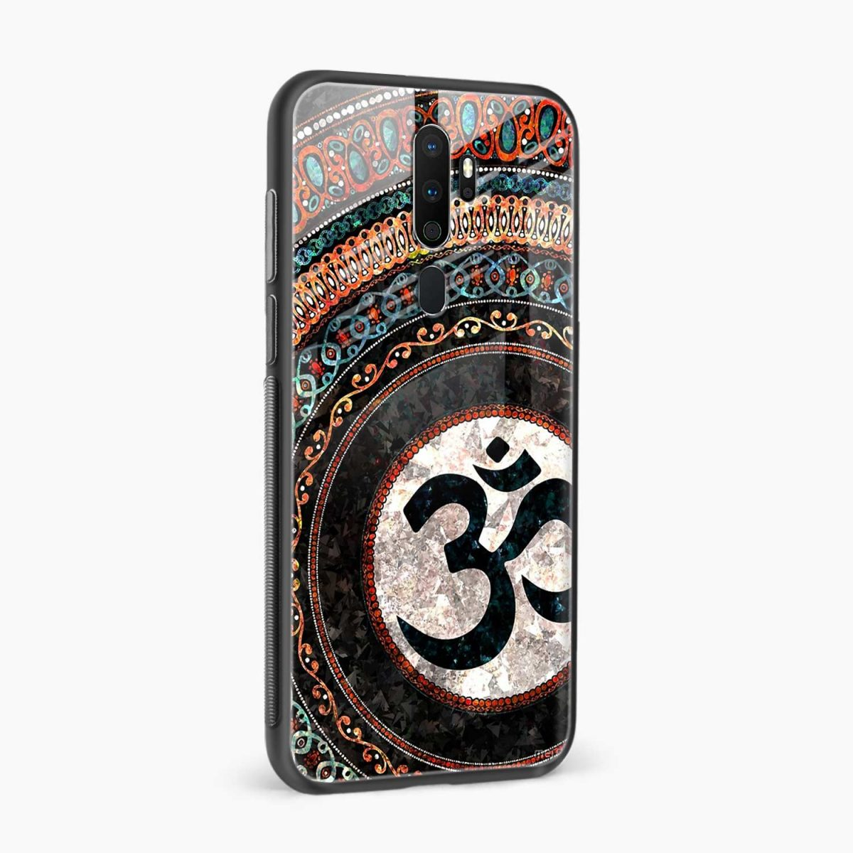 om glass side view oppo a5 back cover