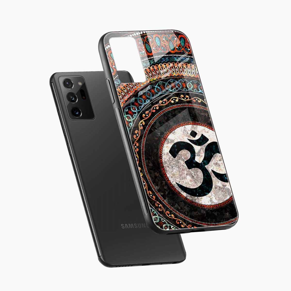om glass diagonal view samsung galaxy note20 ultra back cover