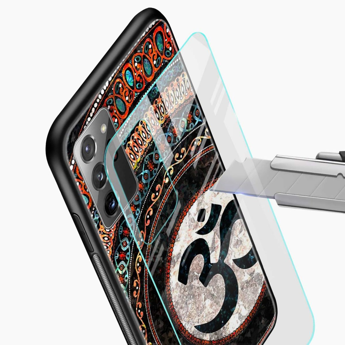 om glass glass view samsung galaxy note20 ultra back cover