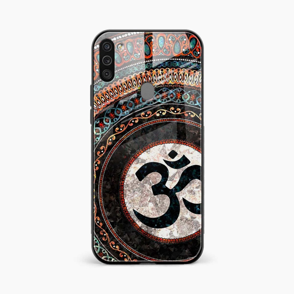om glass front view samsung galaxy m11 back cover