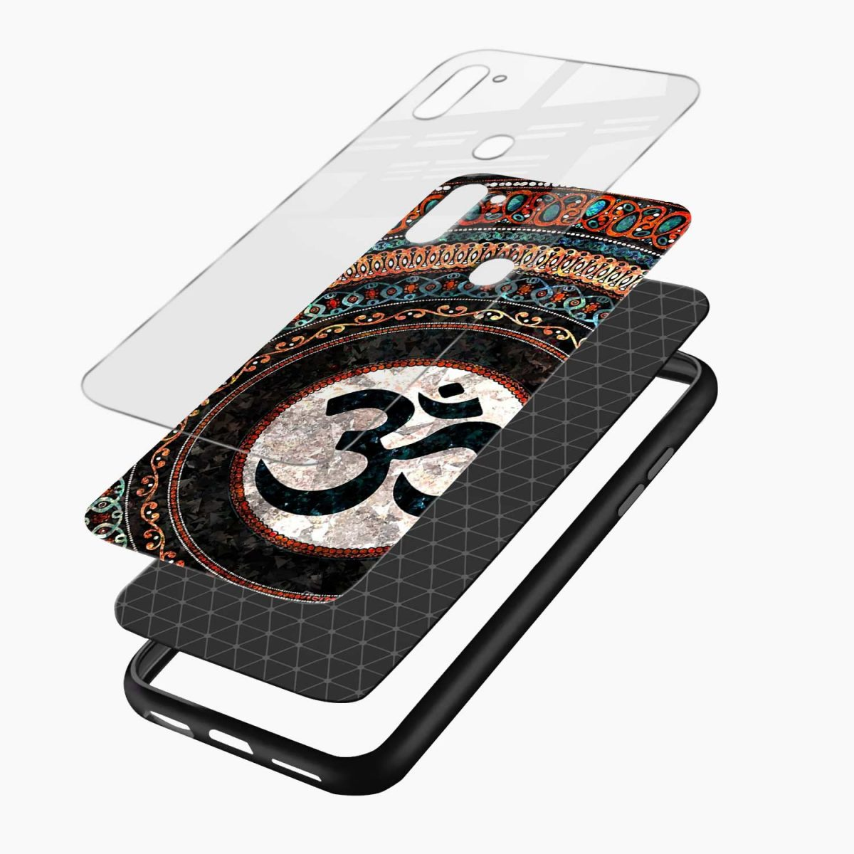 om glass layers view samsung galaxy m11 back cover